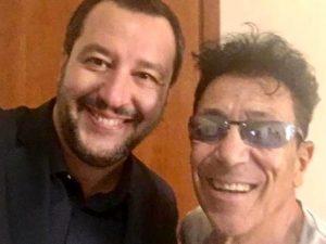 Matteo Salvini ed Edo Bennato