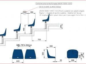I nuovi sediolini dello stadio San Paolo