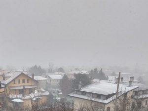 La situazione climatica di Avellino attorno alle 15 di oggi pomeriggio, giovedì 3 gennaio 2019. [Foto / Fanpage.it]