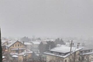 Allerta meteo, bufera di neve su Avellino