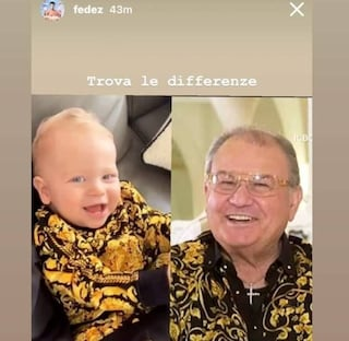 Leone, il figlio di Fedez e Ferragni come il Boss delle cerimonie: in camicia dorata di seta