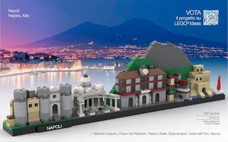 Il panorama di Napoli coi mattoncini Lego: al voto per creare una scatola ufficiale