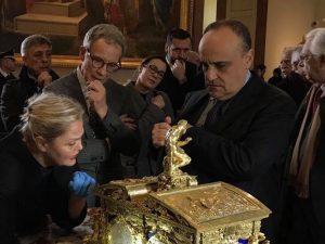 Il ministro ai Beni e alle Attività culturali, Alberto Bonisoli in visita a Capodimonte