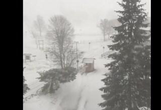 Neve ad Avellino: sul Laceno il termometro è arrivato a -6 gradi sotto zero