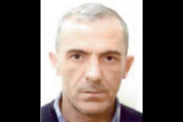 """Ciro Rinaldi, detto """"My Way"""", ritenuto a capo del clan Rinaldi di San Giovanni a Teduccio e catturato quest'oggi dopo 4 mesi di latitanza."""