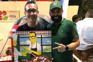Rino Russo, l'artista di Benevento che trasforma i vip in personaggi dei Simpson
