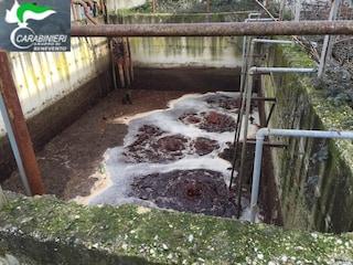 Le acque del fiume Calore diventano rosse: colpa dello scarico abusivo di un mattatoio