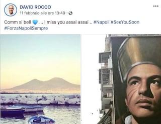 """""""Comm si bell. I miss you assai assai"""": la dedica dello chef David Rocco a Napoli"""