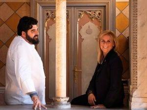 Antonino Cannavacciuolo e la moglie Cinzia Primatesta