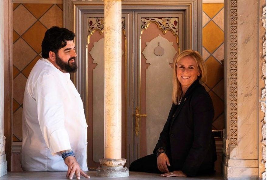 Cannavacciuolo e la moglie Cinzia Primatesta