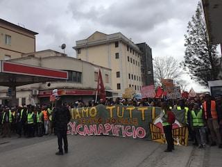 """Caserta in piazza per l'Ex-Canapificio. Marco D'Amore: """"Non mollate, vi sono vicino"""""""