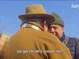 Un fotogramma del video di Fanpage.it con Bobo' Esposito