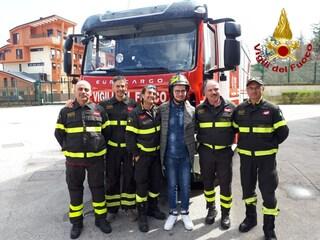 """Nicola ringrazia i Vigili del Fuoco di Avellino: """"Mi avete salvato la vita"""""""