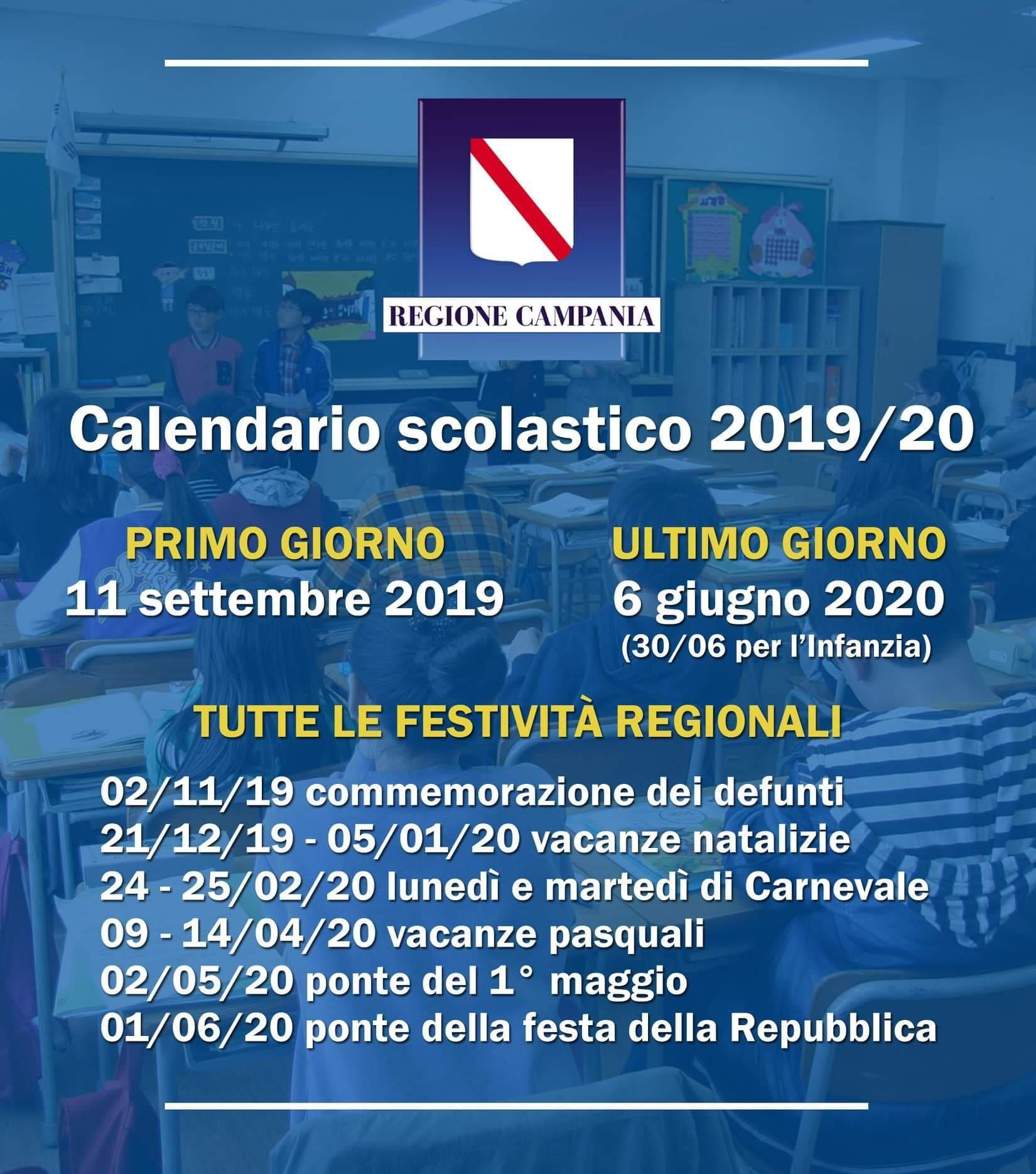 Calendario Classe Prima.Ecco Il Calendario Scolastico 2019 2020 Si Rientra In
