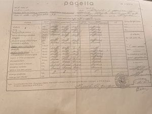 [Interno di una pagella del periodo fascista / Foto Fanpage.it]