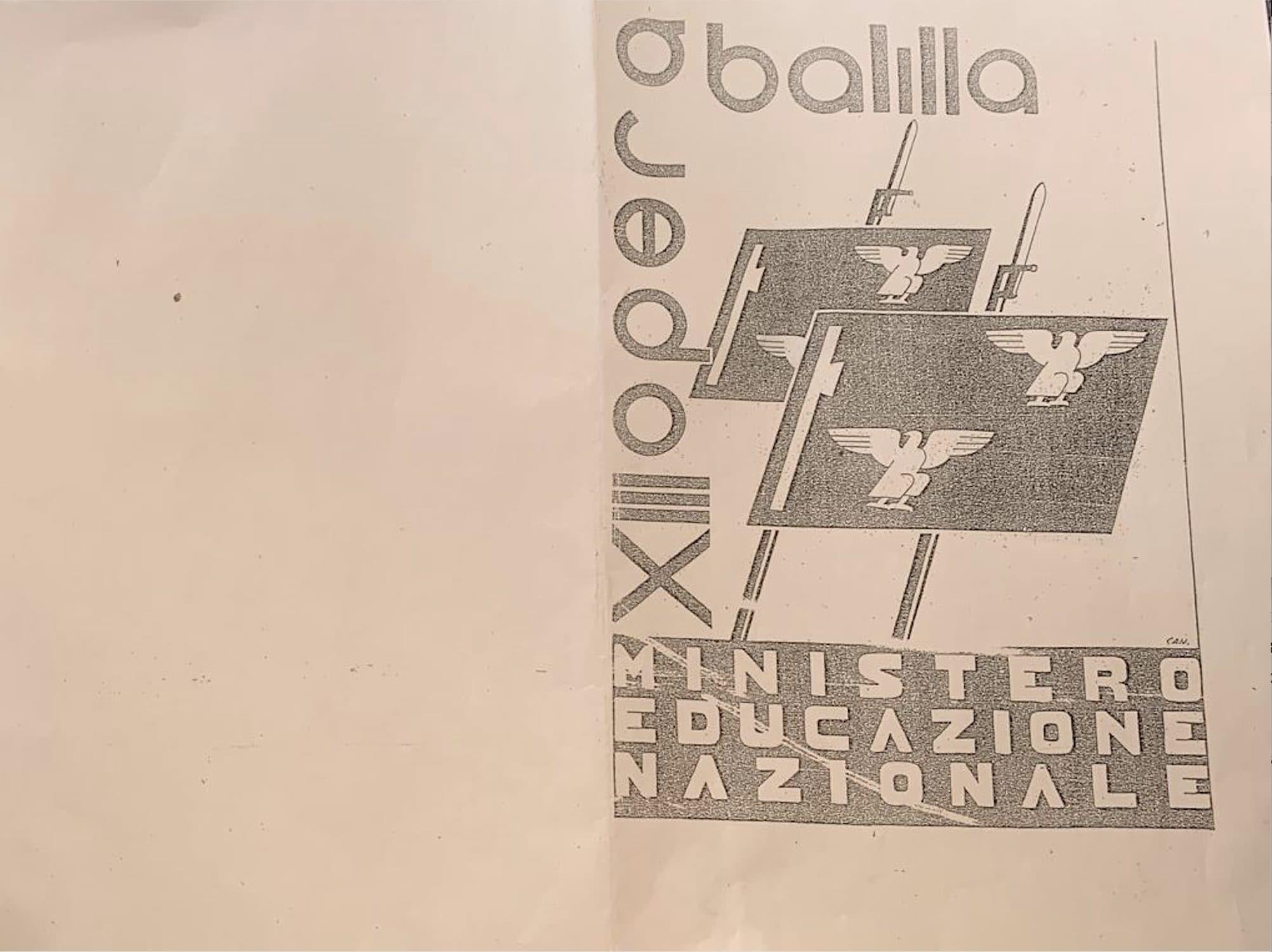 [Frontespizio pagella dell'epoca fascista / Foto Fanpage.it]