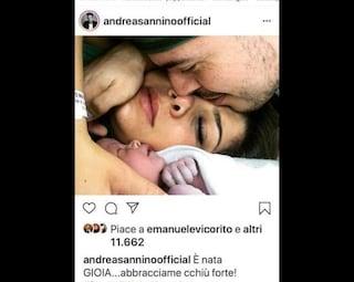 Andrea Sannino diventa papà: è nata la piccola Gioia