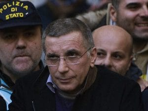Il boss Zagaria al momento dell'arresto