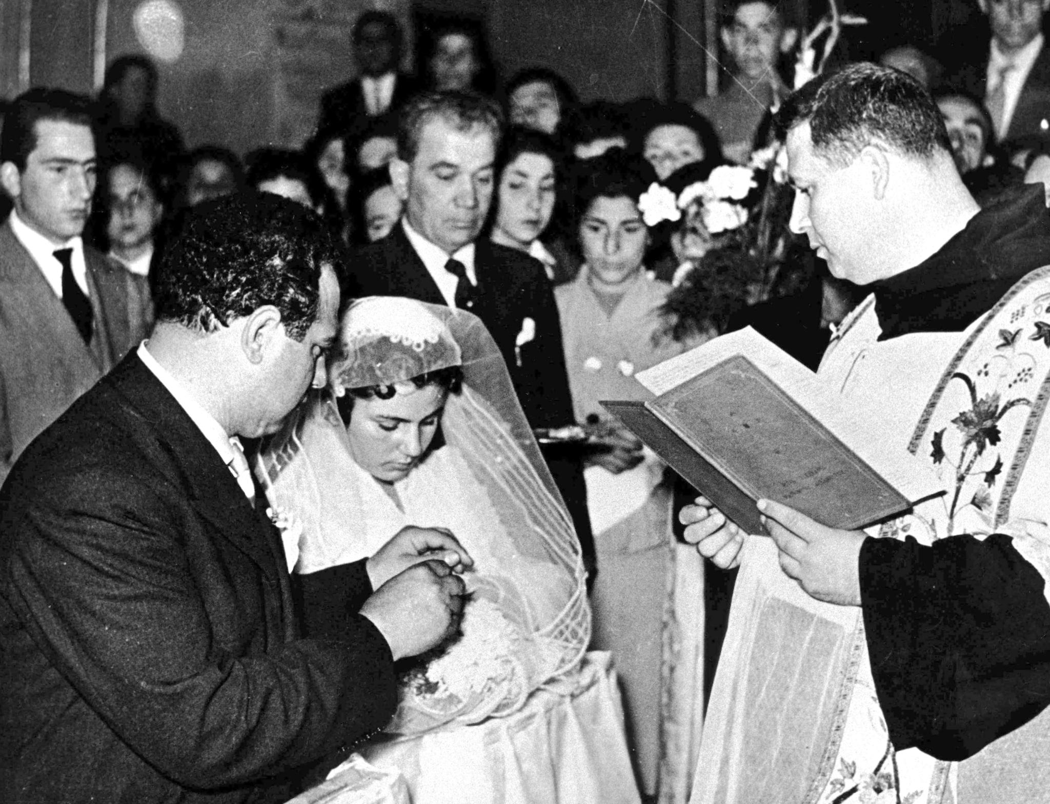 Pupetta Maresca durante il suo matrimonio con Pasquale Simonetti
