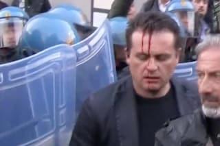 """Agente ferito nella manifestazione contro Salvini, il sindacato: """"Servono più risorse"""""""