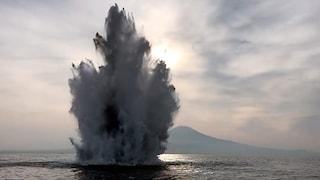 Trovate 4 bombe di guerra nel porto di Napoli: fatte esplodere stamane