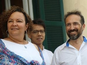 Alfredo Petrosino (a destra), con Lisa Jackson.