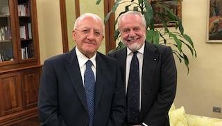 Aurelio De Laurentiis compie 70 anni, gli auguri di Vincenzo De Luca