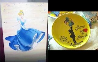 I detenuti per Noemi: in regalo il disegno di una principessa e un piatto fatto a mano