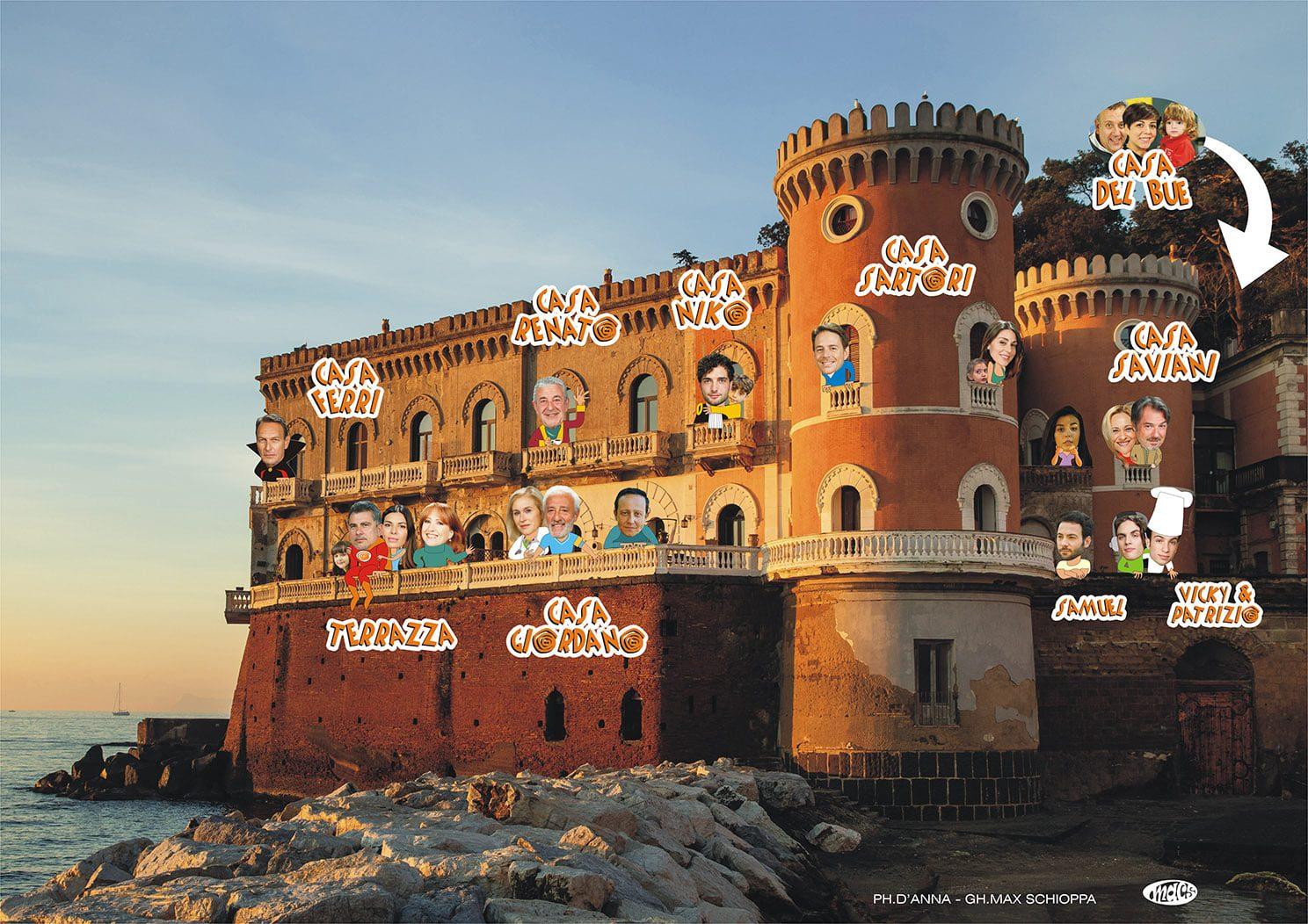 Un Posto al Sole, dove si trova Palazzo Palladini a Napoli, luogo dal panorama mozzafiato