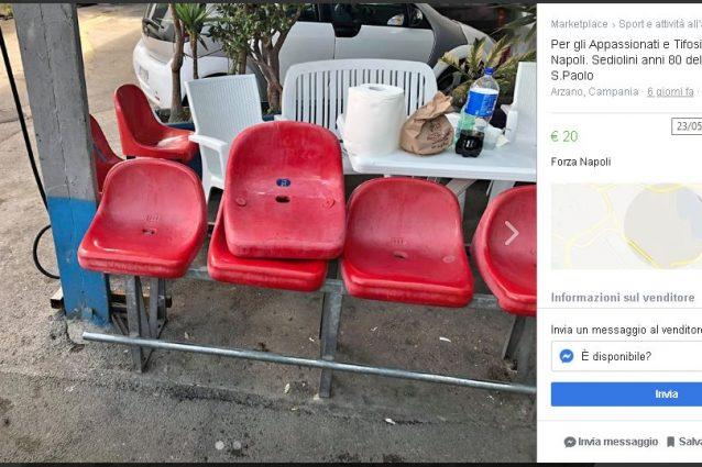 L'annuncio di vendita dei sediolini del San Paolo apparso su internet.