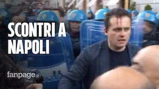 Corteo contro Salvini a Napoli: la polizia carica i manifestanti