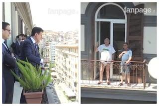 """L'avvocato affacciato in mutande davanti al premier. Eduardo insegna: """"Napoli è un teatro"""""""