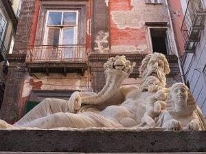 """La statua del dio Nilo, anche conosciuta come """"il Corpo di Napoli"""": si tratta di una copia romana del II–III secolo dopo Cristo."""