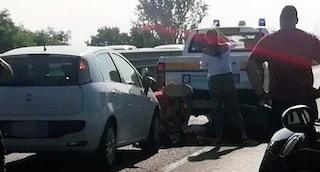 Caivano, moto contro auto della Protezione Civile: morto un uomo