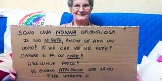 """Il messaggio della nonna di un ragazzo gay: """"Orgogliosa di lui, l'amore si fa col cuore"""""""