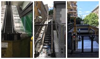 Disastro scale mobili, verso lo smantellamento quelle di Montesanto ferme da 11 anni