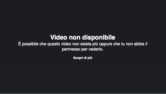 Il video di Pareo Park rimosso da Facebook