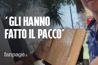 A Napoli per le Universiadi 2019, gli fanno il 'pacco': mattonelle al posto dello smartphone