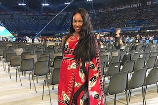 Universiadi 2019, l'atleta Erikah Seyama dell'Eswatini conquista tutti all'inaugurazione