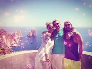 Heidi Klum e Tom Kaulitz a Capri sullo yacht di Onassis per le vacanze prima del matrimonio