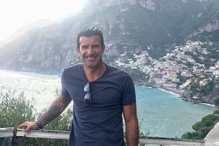 Luís Figo in vacanza tra la Costiera Amalfitana e Capri