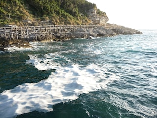 Schiuma bianca nel mare di Sorrento: la denuncia del Wwf