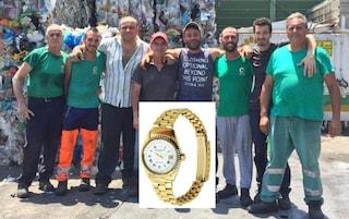 Pozzuoli, getta per sbaglio nell'immondizia un orologio d'oro: i netturbini lo restituiscono