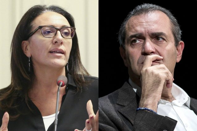Valeria Valente (Pd) e il sindaco Luigi De Magistris