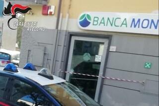 Montoro, furto in banca: ladri rubano una cassaforte con 17mila euro