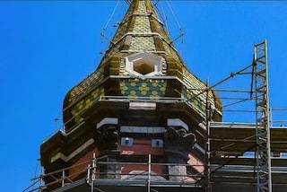 Napoli, dopo 5 anni via le impalcature: svelato il campanile della Basilica del Carmine