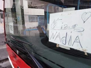"""""""Ciao Nadia"""": a Napoli omaggio degli autisti dei bus Anm Nadia Toffa"""
