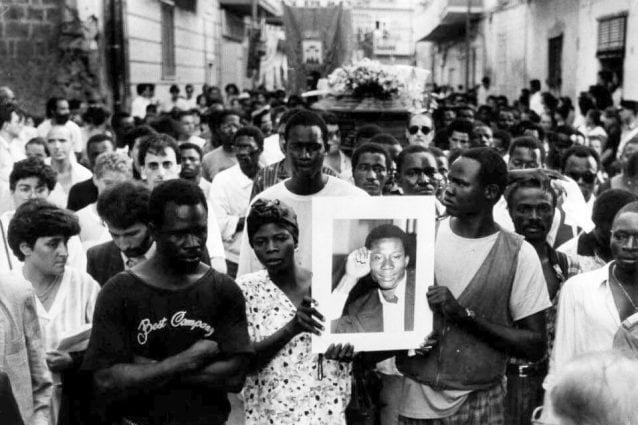 I funerali di Jerry Masslo / foto archivio Agenzia Frattari