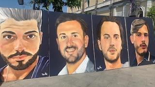 Ponte Morandi, un anno dopo a Torre del Greco dipinti i volti dei 4 ragazzi morti