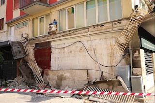 Salerno, crolla un balcone nella notte a Torrione, tragedia sfiorata